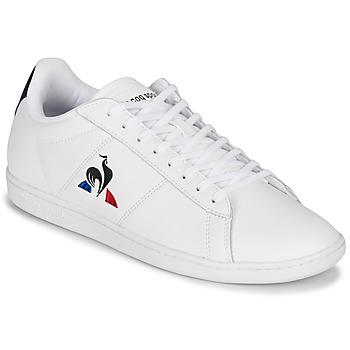 鞋子 球鞋基本款 Le Coq Sportif 乐卡克 COURTSET 白色 / 海蓝色