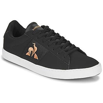 鞋子 女士 球鞋基本款 Le Coq Sportif 乐卡克 ELSA 黑色 / 玫瑰色
