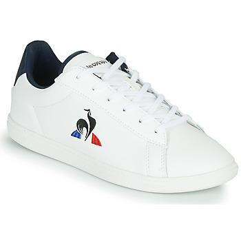 鞋子 儿童 球鞋基本款 Le Coq Sportif 乐卡克 COURTSET GS 白色 / 蓝色