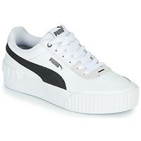 鞋子 女士 球鞋基本款 Puma 彪马 CARINA LIFT 白色 / 黑色 / 灰色