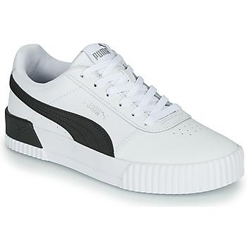 鞋子 女士 球鞋基本款 Puma 彪马 CARINA 白色 / 黑色