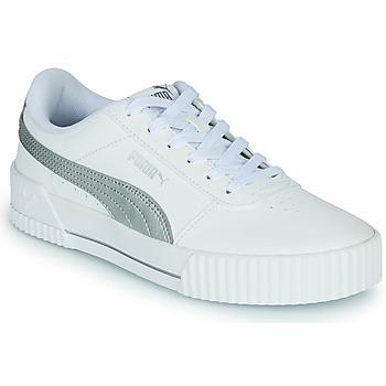 鞋子 女士 球鞋基本款 Puma 彪马 CARINA 白色 / 银色