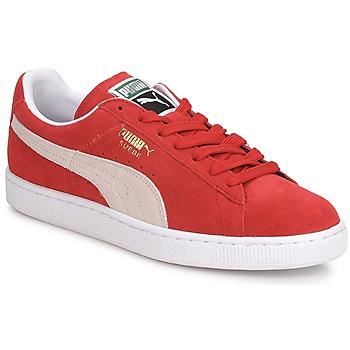 鞋子 男士 球鞋基本款 Puma 彪马 SUEDE CLASSIC + 红色 / 白色