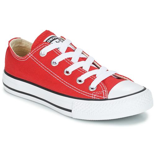 鞋子 儿童 球鞋基本款 Converse 匡威 CHUCK TAYLOR ALL STAR CORE OX 红色
