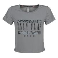 衣服 女士 短袖体恤 Only Play  灰色