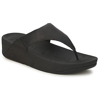 鞋子 女士 人字拖 FitFlop LULU LEATHER 黑色