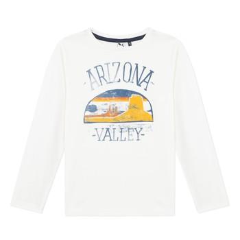 衣服 男孩 长袖T恤 3 Pommes 3R10005-19-C 白色