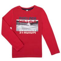 衣服 男孩 长袖T恤 3 Pommes 3R10015-37-C 红色