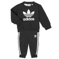 衣服 儿童 女士套装 Adidas Originals 阿迪达斯三叶草 CREW SET 黑色
