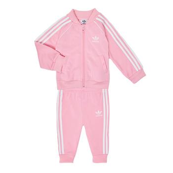 衣服 女孩 女士套装 Adidas Originals 阿迪达斯三叶草 SST TRACKSUIT 玫瑰色