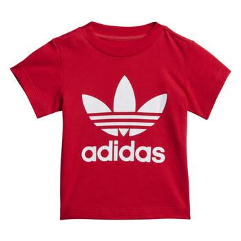 衣服 儿童 短袖体恤 Adidas Originals 阿迪达斯三叶草 TREFOIL TEE 红色
