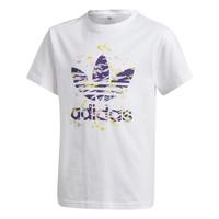 衣服 女孩 短袖体恤 Adidas Originals 阿迪达斯三叶草 TREF TEE 白色