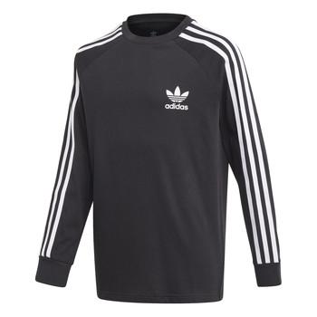 衣服 男孩 长袖T恤 Adidas Originals 阿迪达斯三叶草 3STRIPES LS 黑色