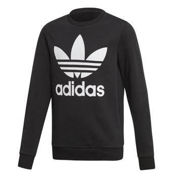 衣服 儿童 卫衣 Adidas Originals 阿迪达斯三叶草 TREFOIL CREW 黑色
