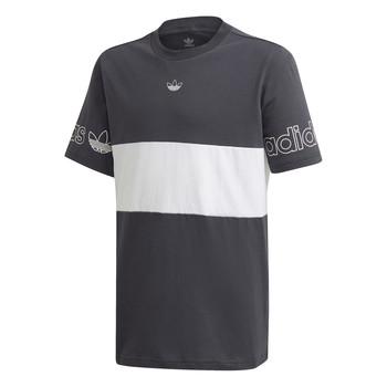 衣服 男孩 短袖体恤 Adidas Originals 阿迪达斯三叶草 PANEL TEE 灰色 / 白色
