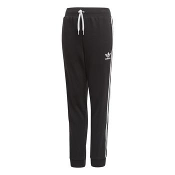 衣服 儿童 厚裤子 Adidas Originals 阿迪达斯三叶草 TREFOIL PANTS 黑色