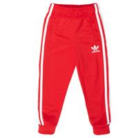 衣服 儿童 厚裤子 Adidas Originals 阿迪达斯三叶草 SST TRACKPANT 红色