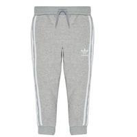 衣服 男孩 厚裤子 Adidas Originals 阿迪达斯三叶草 TREFOIL PANTS 灰色