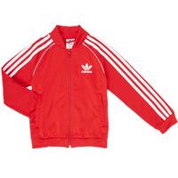 衣服 男孩 运动款外套 Adidas Originals 阿迪达斯三叶草 SST TRACKTOP 红色