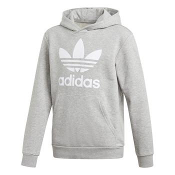 衣服 男孩 卫衣 Adidas Originals 阿迪达斯三叶草 TREFOIL HOODIE 灰色