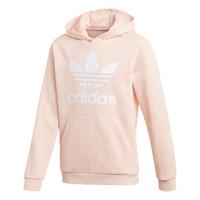 衣服 女孩 卫衣 Adidas Originals 阿迪达斯三叶草 TREFOIL HOODIE 玫瑰色