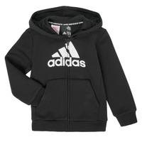衣服 男孩 卫衣 adidas Performance 阿迪达斯运动训练 B MH BOS FZ FL 黑色