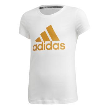 衣服 女孩 短袖体恤 adidas Performance 阿迪达斯运动训练 YG MH BOS TEE 白色