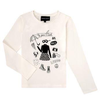 衣服 女孩 长袖T恤 Emporio Armani 6H3T01-3J2IZ-0101 白色