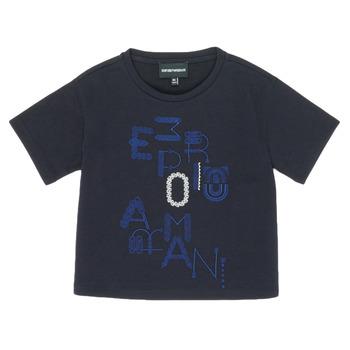 衣服 女孩 短袖体恤 Emporio Armani 6H3T7R-2J4CZ-0926 海蓝色
