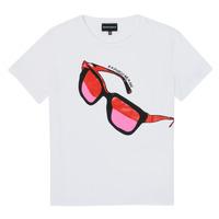 衣服 女孩 短袖体恤 Emporio Armani 6H3T7T-3J2IZ-0100 白色