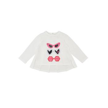 衣服 女孩 长袖T恤 Emporio Armani 6HEM01-3J2IZ-0101 白色