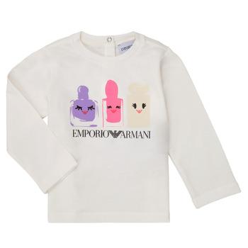 衣服 女孩 长袖T恤 Emporio Armani 6HET02-3J2IZ-0101 白色