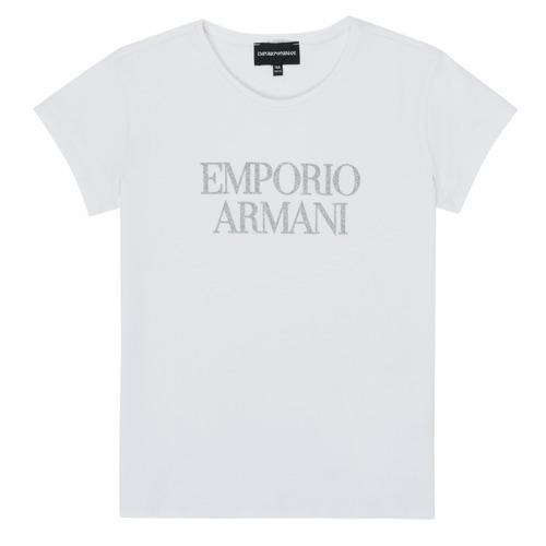 衣服 女孩 短袖体恤 Emporio Armani 8N3T03-3J08Z-0100 白色