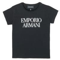 衣服 女孩 短袖体恤 Emporio Armani 8N3T03-3J08Z-0999 黑色