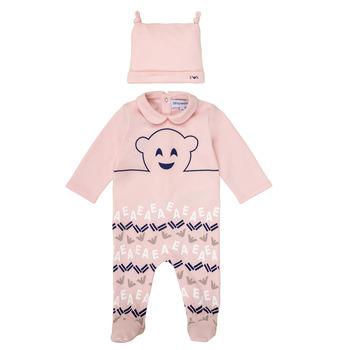 衣服 女孩 睡衣/睡裙 Emporio Armani 6HHV08-4J3IZ-0355 玫瑰色
