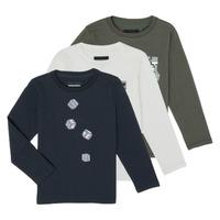 衣服 男孩 长袖T恤 Emporio Armani 6H4D01-4J09Z-0564 多彩