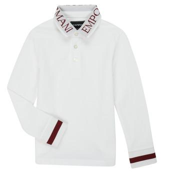 衣服 男孩 长袖保罗衫 Emporio Armani 6H4FJ4-1J0SZ-0101 白色