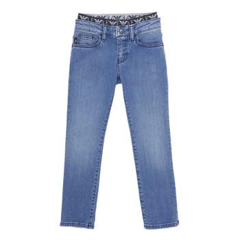 衣服 男孩 紧身牛仔裤 Emporio Armani 6H4J17-4D29Z-0942 蓝色