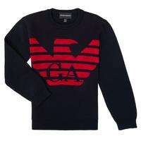 衣服 男孩 羊毛衫 Emporio Armani 6H4MTL-1MDDZ-F934 海蓝色