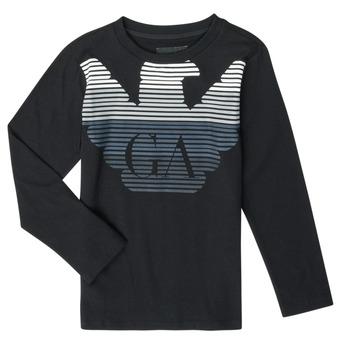 衣服 男孩 长袖T恤 Emporio Armani 6H4T17-1J00Z-0999 黑色