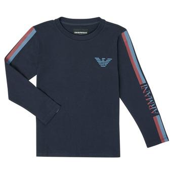 衣服 男孩 长袖T恤 Emporio Armani 6H4TJD-1J00Z-0920 海蓝色