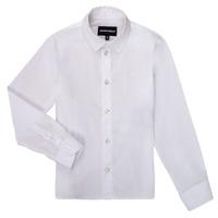衣服 男孩 长袖衬衫 Emporio Armani 8N4CJ0-1N06Z-0100 白色