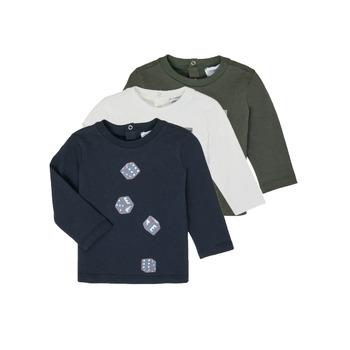 衣服 男孩 长袖T恤 Emporio Armani 6HHD21-4J09Z-0564 多彩
