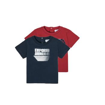 衣服 男孩 短袖体恤 Emporio Armani 6HHD22-4J09Z-0353 多彩