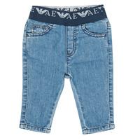 衣服 男孩 紧身牛仔裤 Emporio Armani 6HHJ07-4D29Z-0942 蓝色