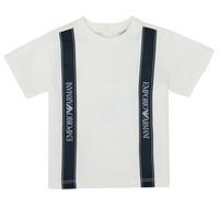 衣服 男孩 短袖体恤 Emporio Armani 6HHTG4-1JTUZ-0101 白色