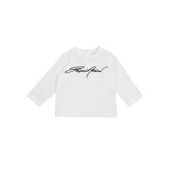 衣服 男孩 长袖T恤 Emporio Armani 6HHTJN-1JTUZ-0101 白色
