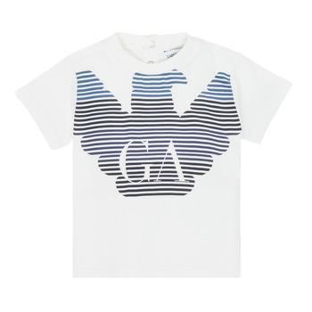 衣服 男孩 短袖体恤 Emporio Armani 6HHTQ7-1J00Z-0101 白色