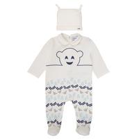 衣服 男孩 睡衣/睡裙 Emporio Armani 6HHV08-4J3IZ-0101 白色 / 蓝色