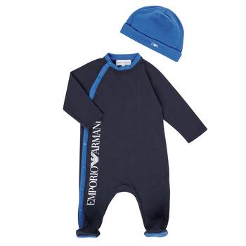 衣服 男孩 睡衣/睡裙 Emporio Armani 6HHV12-4J3CZ-0922 海蓝色